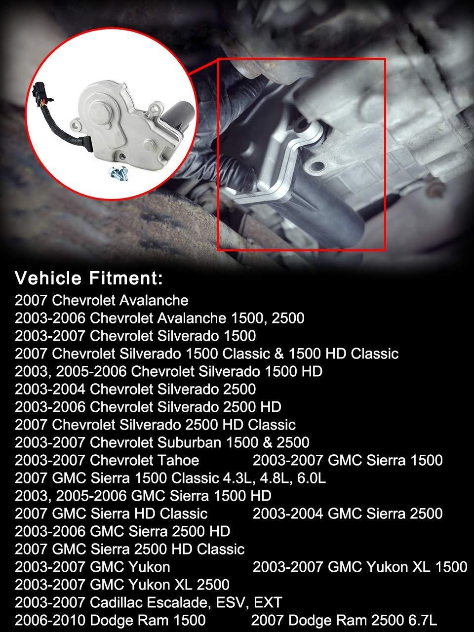 4WD Transfer Case Encoder Motor For Chevy Silverado Tahoe Avalanche Suburban Dodge Ram 1500 2500 GMC Sierra Yukon XL 2003-2010 OEM# 600-910 Shift Actuator