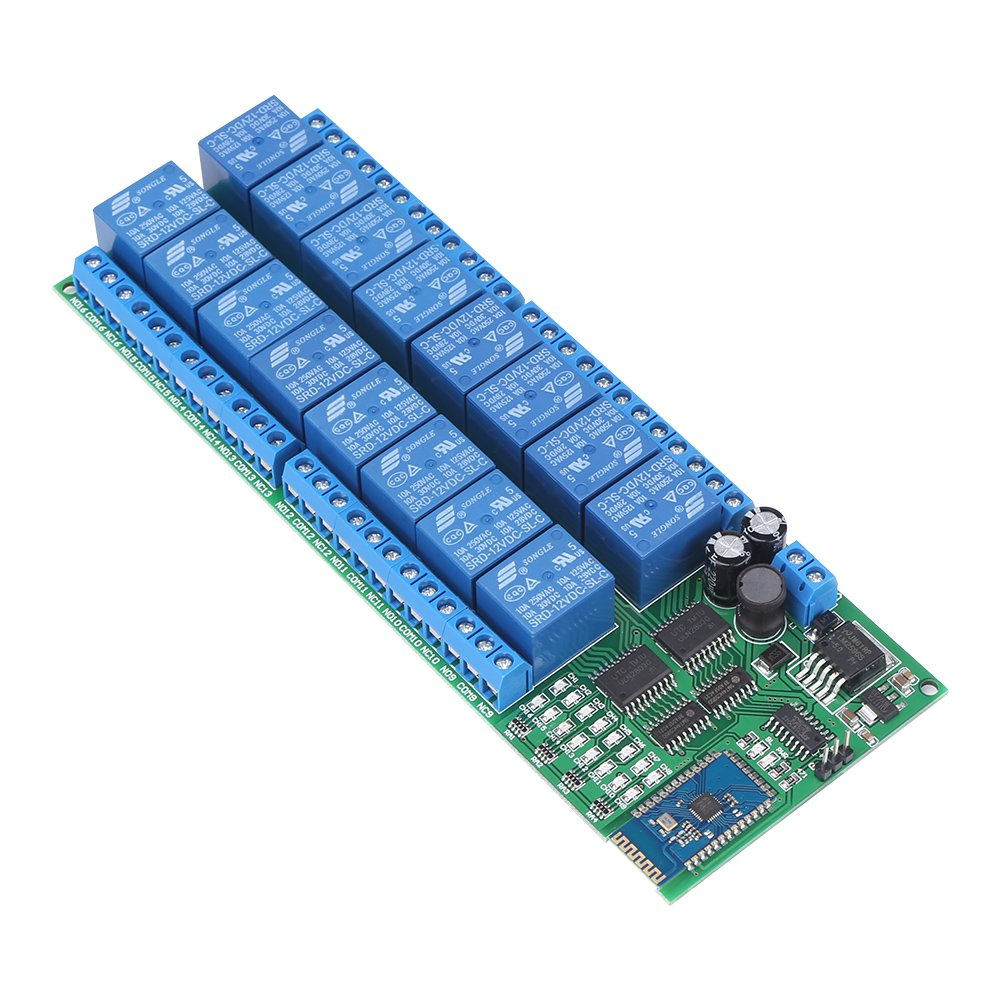 Dc 12v 16 Channel Bluetooth Relay Board Wireless Remote Control Switch Android For Phone Walfront