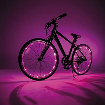 Intertoys - Wheely Brights 1478862. Luces LED para bicicleta. Rosa ...