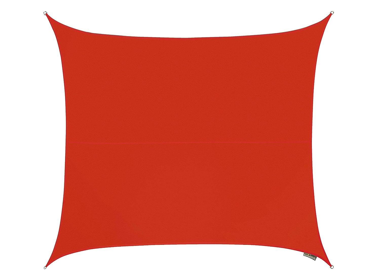 Kookaburra Wasserfest Sonnensegel 3,6m Quadrat Rot