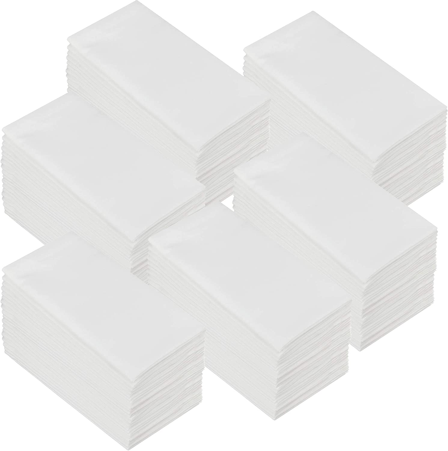 COTTON CRAFT Napkins - 144 Pack Oversized Dinner Napkins 20x20 White - 100% Cotton - Tailored with Mitered Corners and a Generous Hem - Napkins are 38% Larger Than Standard Size Napkins