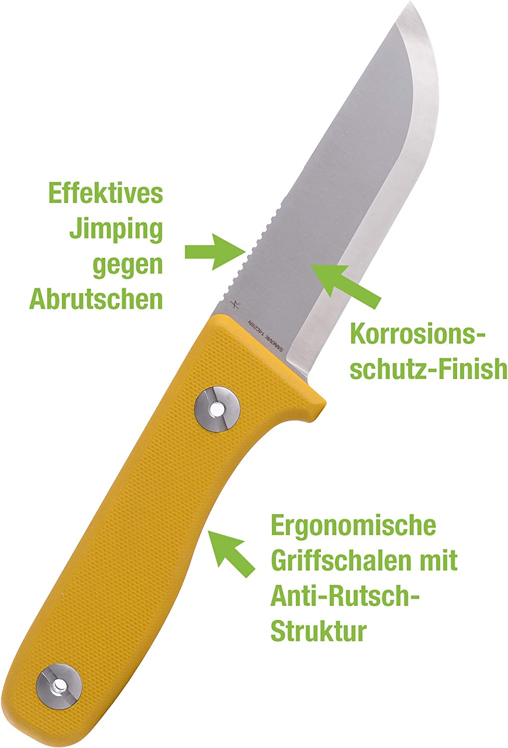 Schnitzel Du Outdoor Knife With Sheath And Fire Steel For Children And Youths From 10 Years Rust Proof With Various Colours Children S Knife Carving Knife Sheath Knife Yellow Sport Freizeit