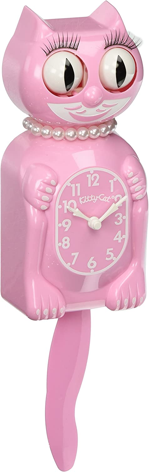 The Original New Edition Kitty Cat Klock (Clock) Miss Kitty Cat Limited Edition - Pink