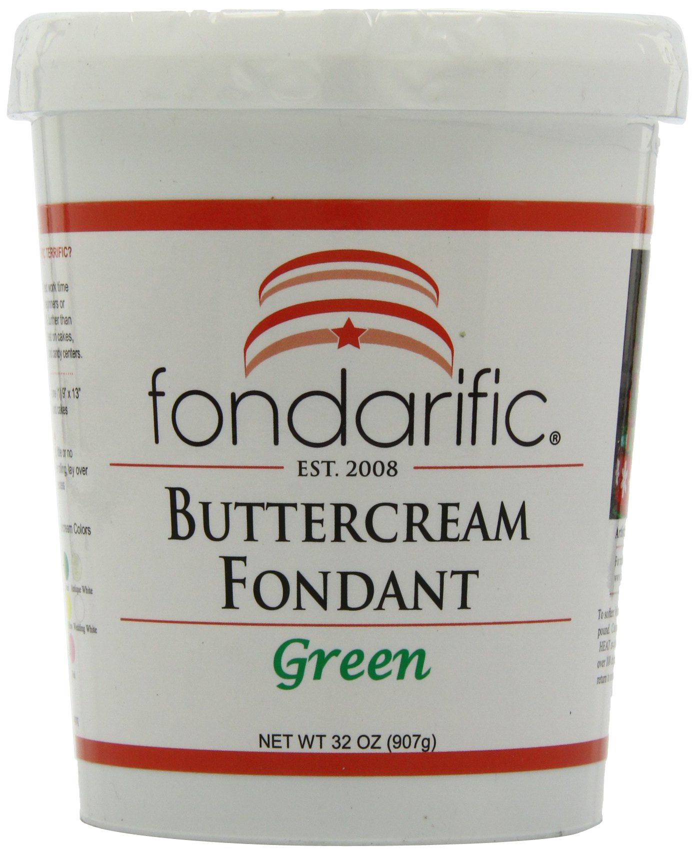 Fondarific Buttercream Green Fondant, 32 Ounces