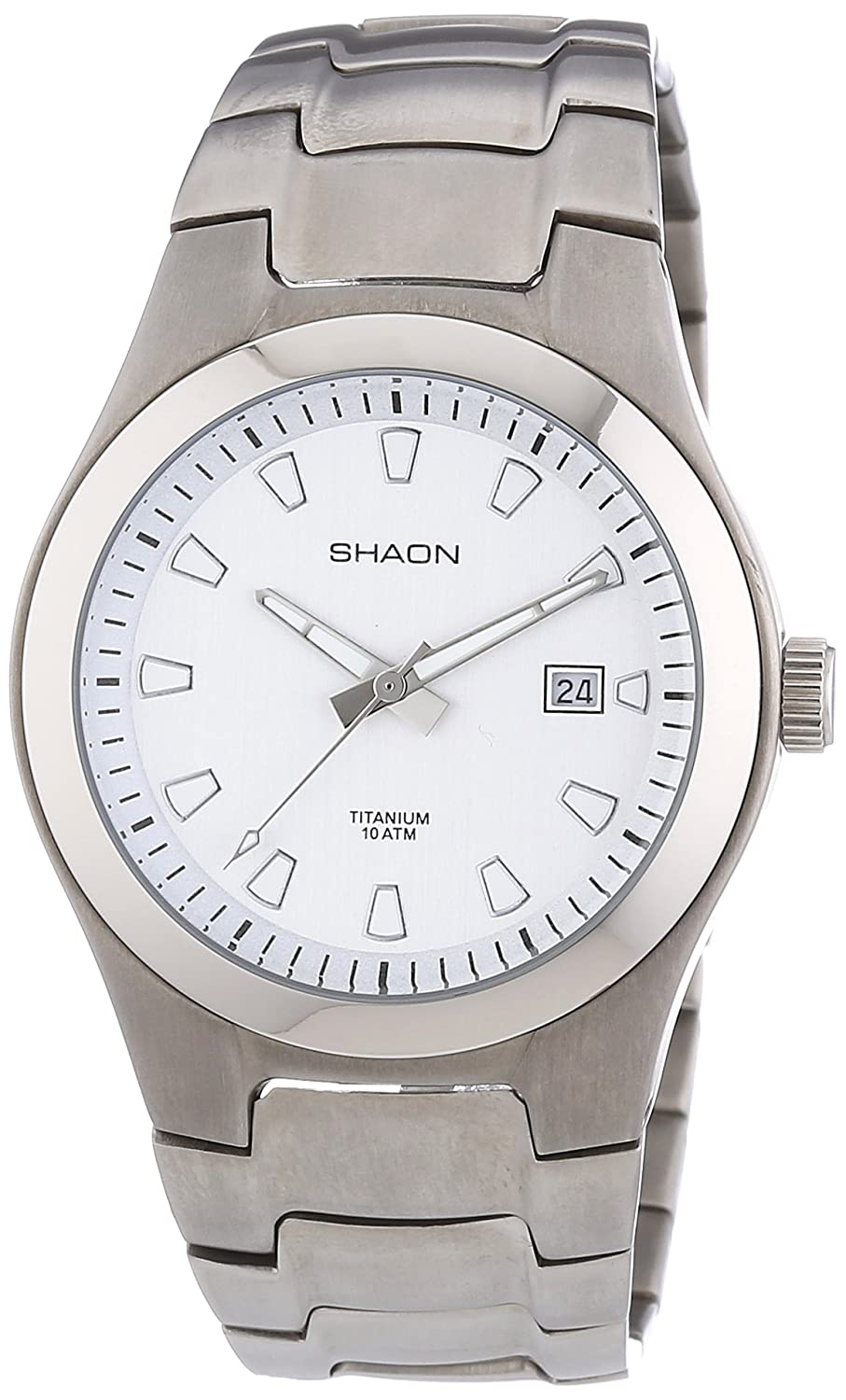 Shaon Herren-Armbanduhr XL Analog Quarz Titan 53-7030-88