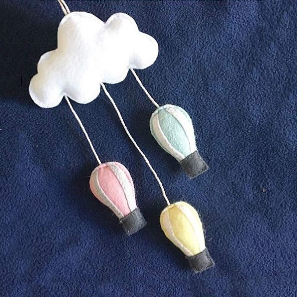 Toyvian Colgante Decoracion de Nube M/óvil Decorativo Adornos de Habitacion Infantil Decoraciones de Pared para Bebe Nubes y Globo de Aire Caliente Rosa