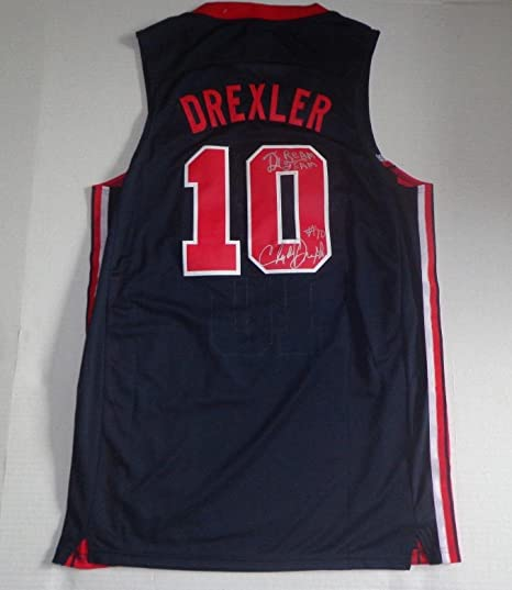 official photos a64aa e5acc Clyde Drexler Autographed Jersey - Team USA The Dream Team ...