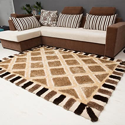 Modern Simple Living Room Carpet Thick Bedroom Checkered Sofa Rug B  160x230cm(63x91inch)
