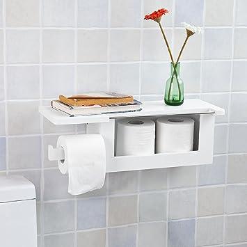 SoBuy® Toilettenpapierhalter zur Wandmontage multifunktional ...