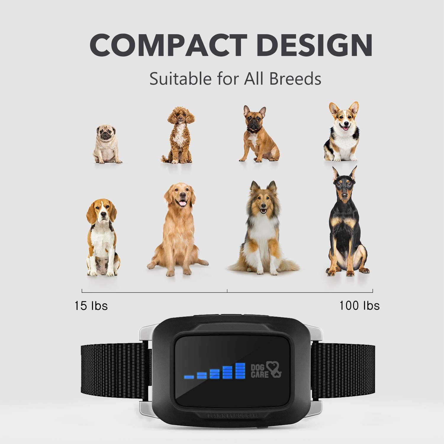 Rechargeable Bark Collar for Dogs - Dog Bark Collar w/2 Vibration and Static Modes, Auto 7 Levels Static Modes, LED Indicator, No Bark Collar for Small Medium Large Dogs, Safe and Humane : Kitchen & Dining