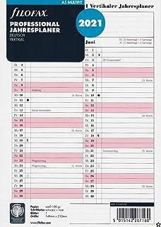 Filofax 21-68445 Personal Jahresplaner deutsch vertikal 2021