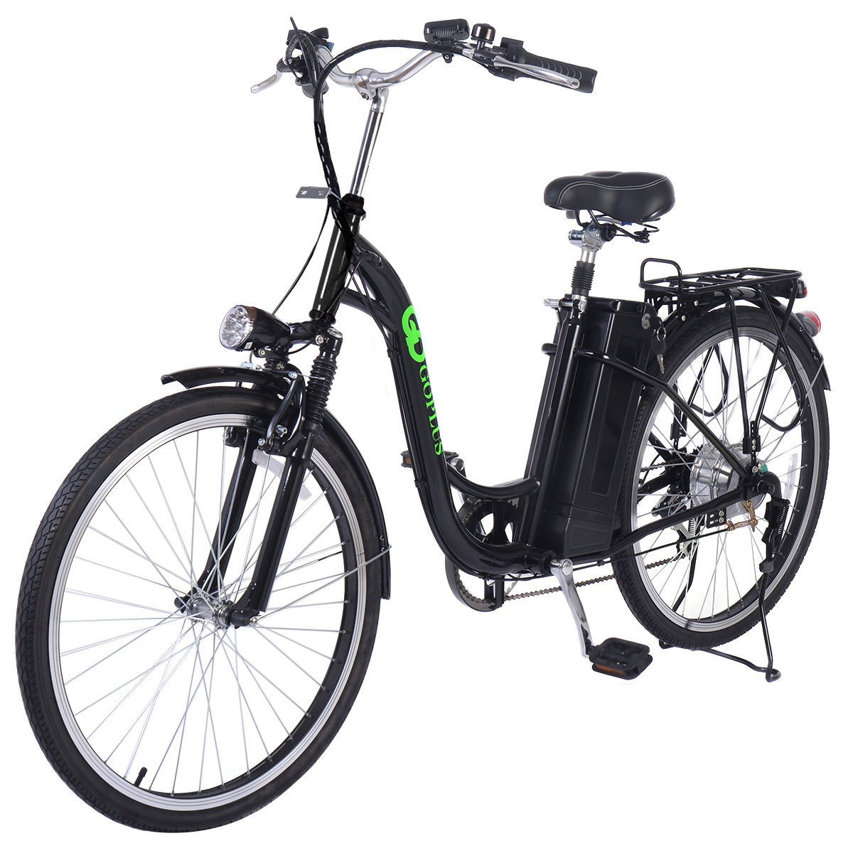 Classic Bicycle Electric Bike Black 250W 26 Inch Lithium Battery
