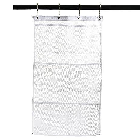 Zehui Fast Dry Hanging Mesh Bath Shower Caddies Shower Organizer With 6  Clear Storage Dispenser Pockets