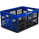 Clevermade CleverCrates Caixa Dobrável Organizadora 45L Azul