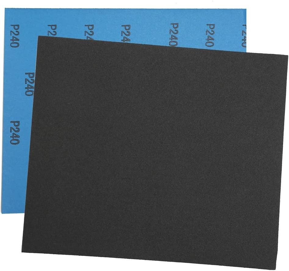 80 Grit Dry Wet Sandpaper Sheets by LotFancy Polishing for Metal Automotive Wood Sanding Silicon Carbide Finishing Pack of 45 9 x 3.6