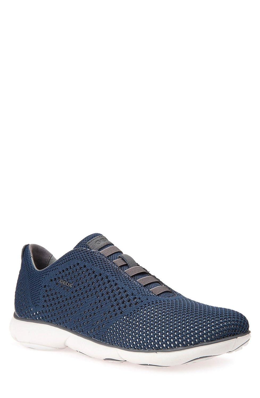 GEOX シューズ スニーカー Geox Nebula 42 Laceless Knit Sneaker (Me Blue/Dark [並行輸入品] B0799KD37B
