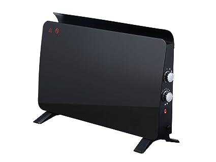 Radiador panel cristal templado color negro con termostato 750 W/ 1500 W ZAFIR H1500N B