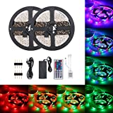 DC12V 48W 10 Meters 600 LED RGB Strip Light with IR 44 Keys Remote Control Controller Cuttable Supported Automatic Colors Changing/Multi-color Flash/Jump/Fade Lighting Effects Brightness