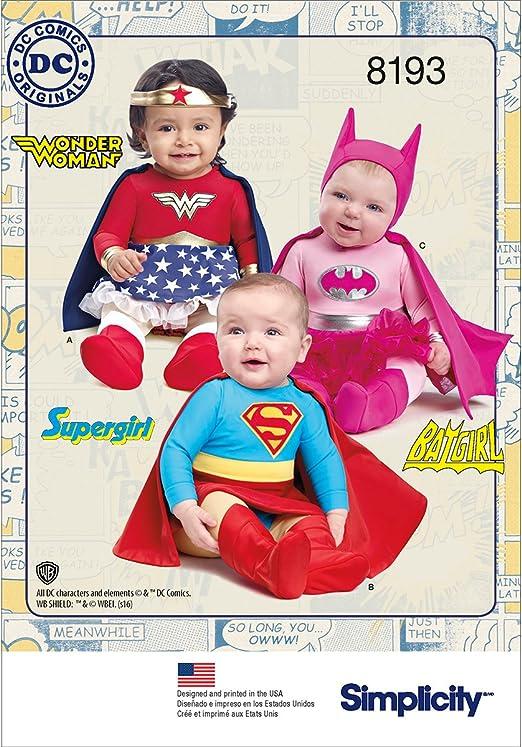 Simplicity Pattern 8193 A (XXS-XS-S-M-L) - Disfraz de superhéroe ...