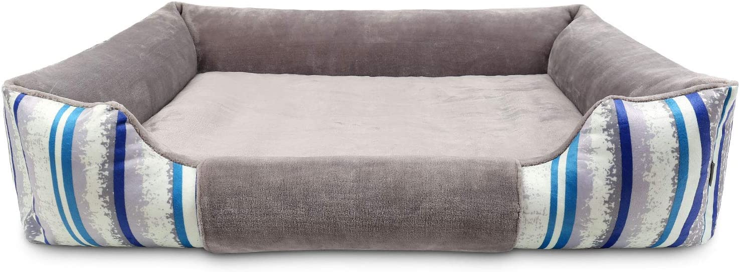 Dog Bed Orthopedic Dog Sofa Cushion Washable Pet Bed Sleeping Anti Slip Dog Mat Mattress with Removable Cover