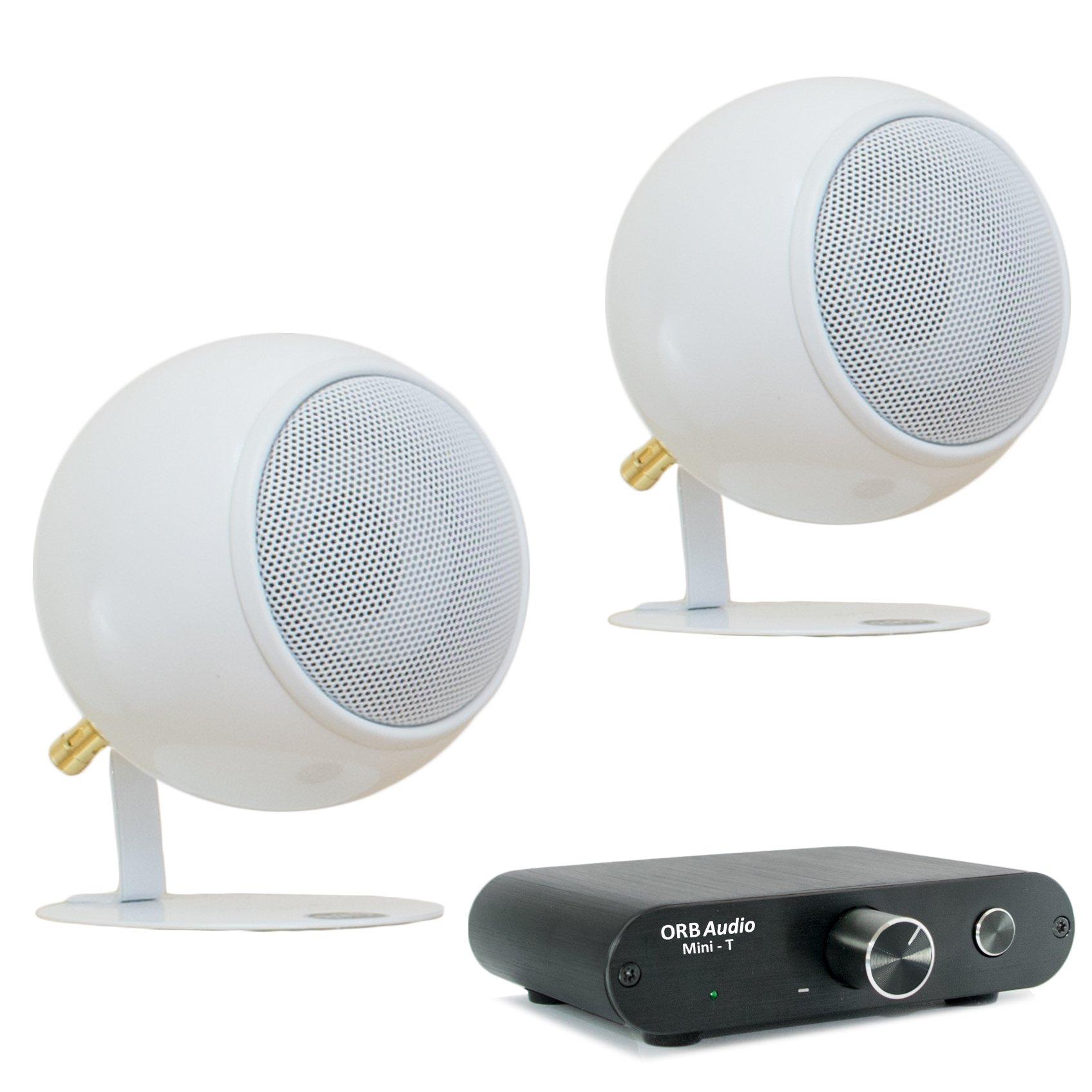 Orb Audio Mini T & Speaker Package, Third Generation Speaker, in Pearl White Gloss