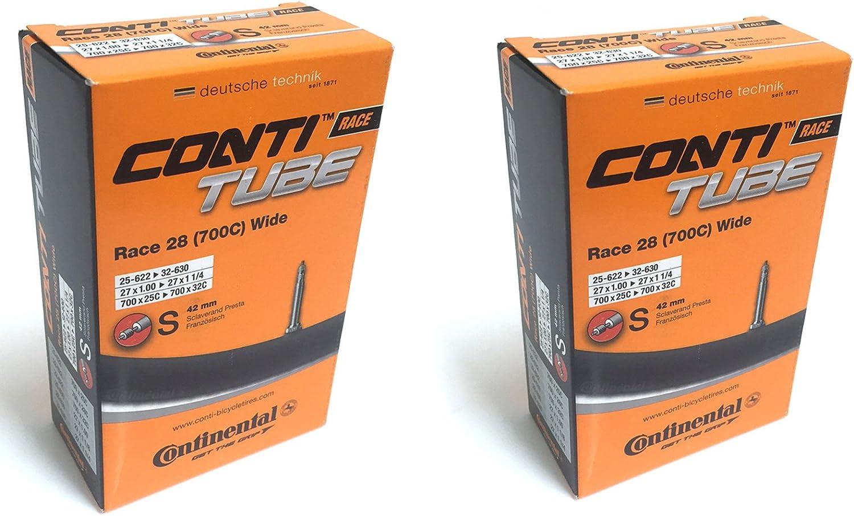 25-622-32-630 Continental Race Tube Wide 28 C/ámara de Aire Unisex-Adult Negro,
