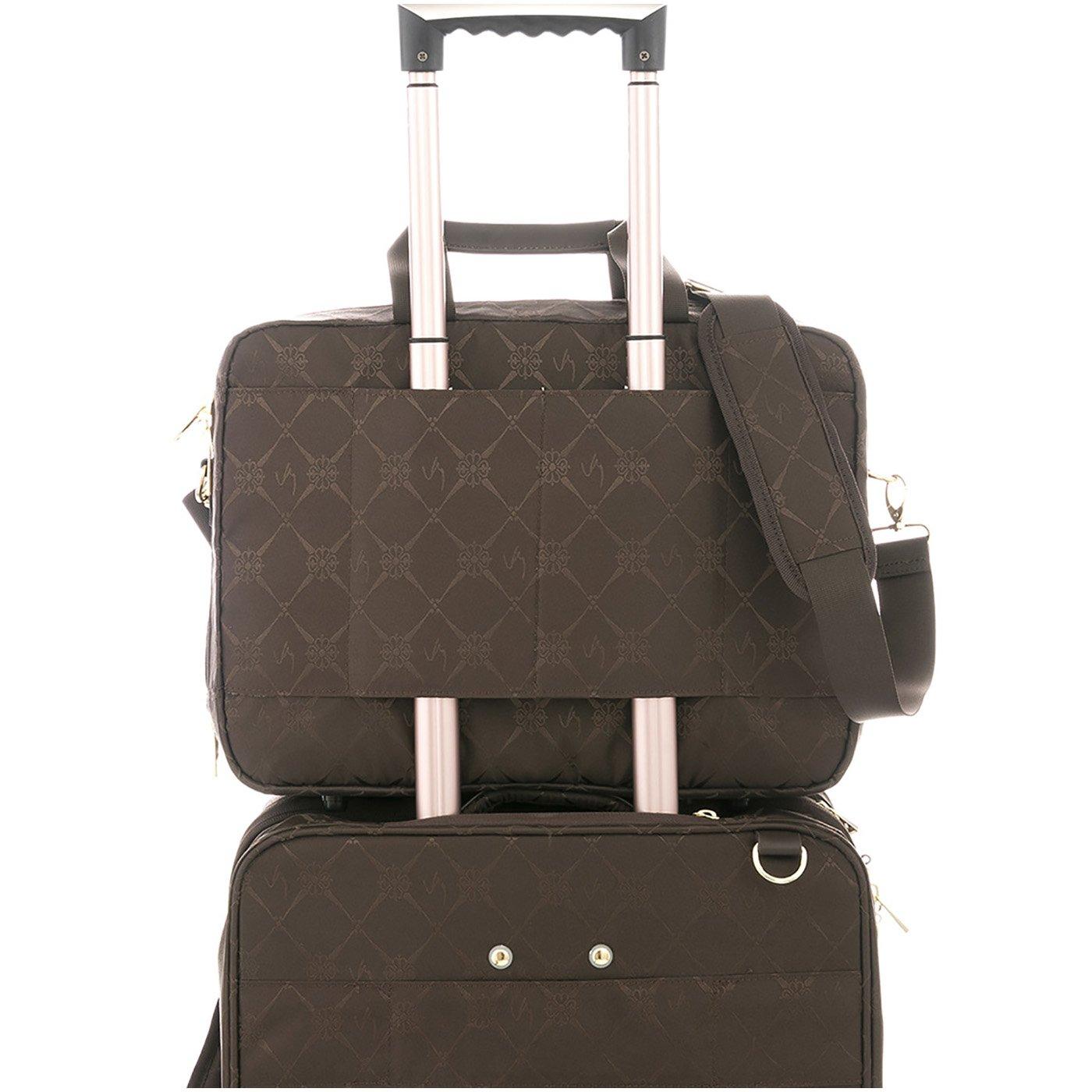Amazon.com | VÉLEZ 19932 Women Leather Business Briefcase | Maletín De Cuero Mujer Coffee | Briefcases
