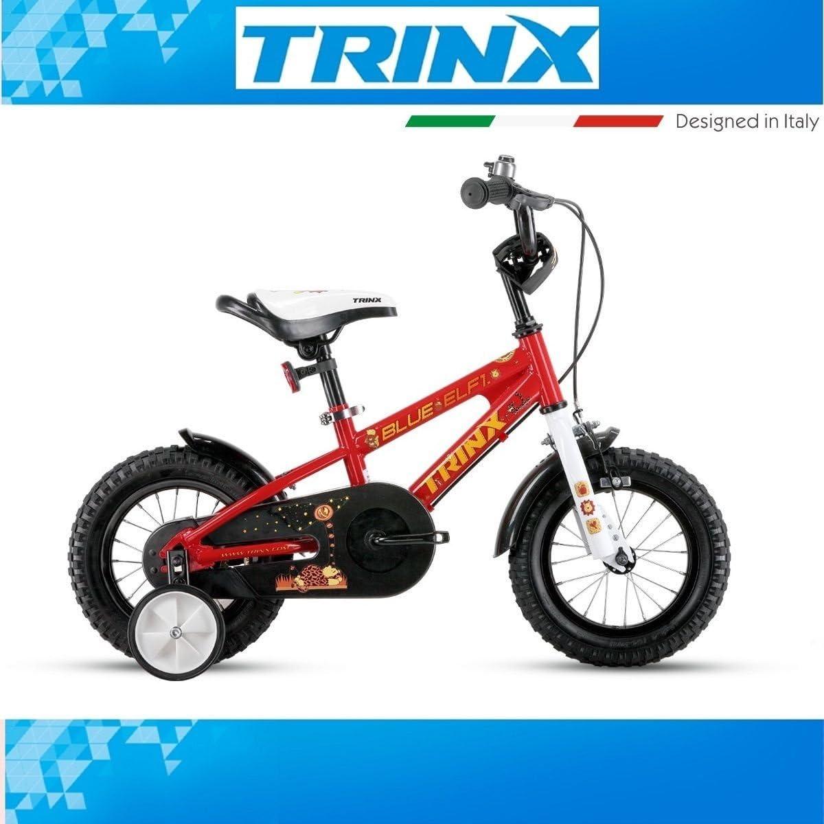 Bicicleta Niños trinx Blue Elf 1.0 Rojo 12 pulgadas ruedines cesta ...