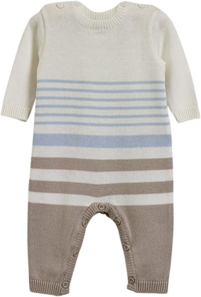 PINK BLUE GREY CREAM STRIPE SIZE S-L COTTON ONEZEE ALL IN ONE WITH HOOD