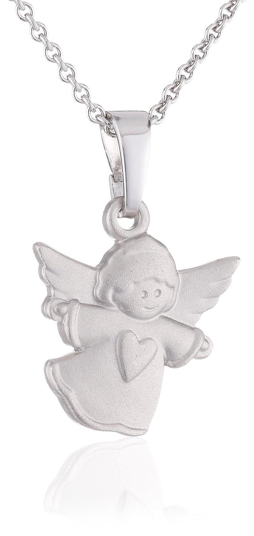 Xaana Kinder-Anhänger Engel matt incl Kette 36 38 cm rhod 925 Sterling Silber AMZ0108