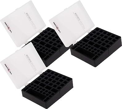 Ansmann Premium Batería Caja para 4 Mignon AA o Micro AAA Baterías y Pilas – Caja para Proteger y Transporte Caja para baterías, 48 Unidades 3 Unidades Negro: Amazon.es: Electrónica