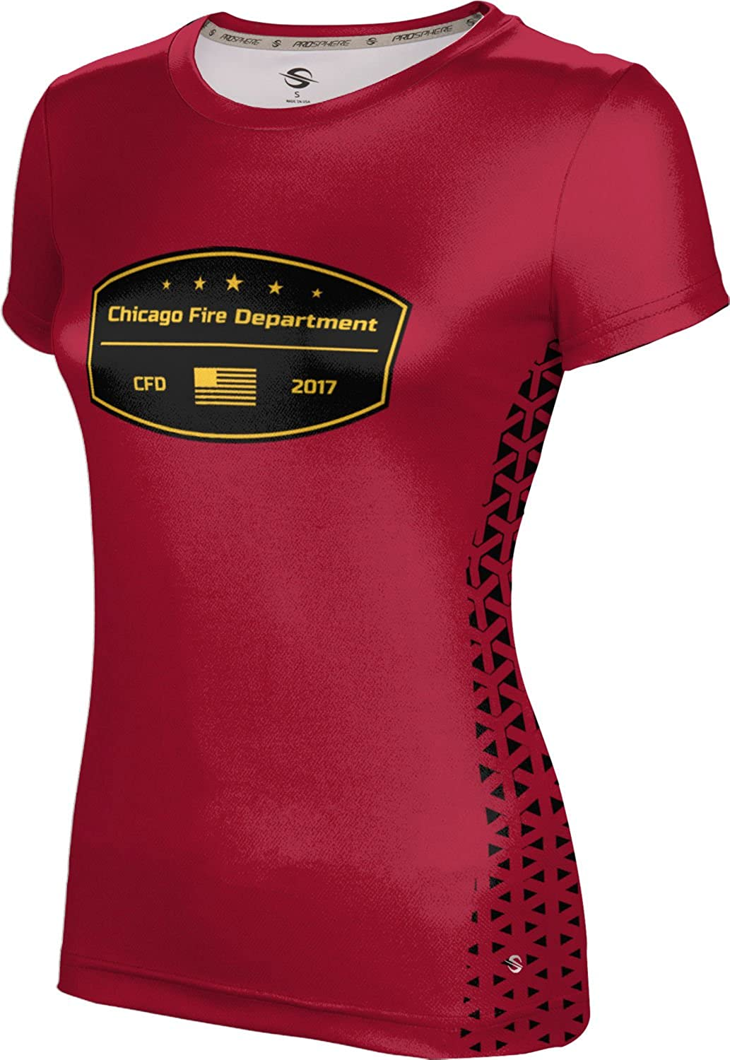 ProSphere Women's Chicago Fire Department Geometric Tech Tee