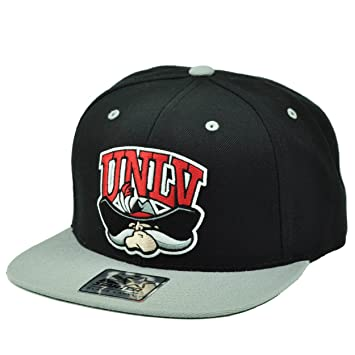 NCAA Starter UNLV Nevada Las Vegas Rebels Snapback Black Gray Hat Cap Flat  Bill 742f0256918c