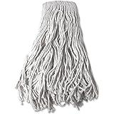Genuine Joe GJO54204 Cotton 4-Ply Yarn Wet Mop Head Refill, 24 oz Material Weight, White