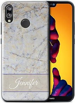 eSwish Personalizado Mármol Personalizado Funda para el Huawei P20 Lite/Nube Gris Bandera Diseño/Inicial/Nombre/Texto Carcasa/Estuche/Case: Amazon.es: Electrónica