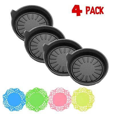 ArtJ4U Car Coasters for Cup Holders Durable Silicone Coasters,Removable Universal Vehicle Cup Holder Coasters Set of 4 Pack,3.15 FT Fit Your Vehicle's Cup Holders(4 Pack): Automotive