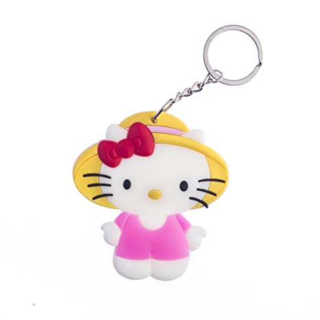 Various Designs Available HELLO KITTY BAG TAG KEYRING FIGURINE Key Rings