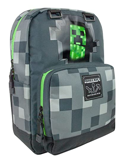 Minecraft Creeper Inside Backpack  Amazon.co.uk  Luggage bb70d009b7638