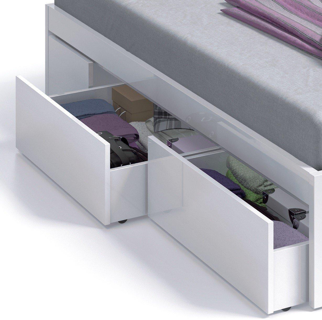 Habitdesign (006084BO) - Cama con 4 cajones para somier de 135x190 y ...