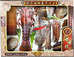 ZGSP Grave Cleaning Day, Thanksgiving and Hunger Day, Funeral Cleaning Supplies, Ancestral Food, Seafood Luxury Platter Lobster Fish Seafood Abalone Meat