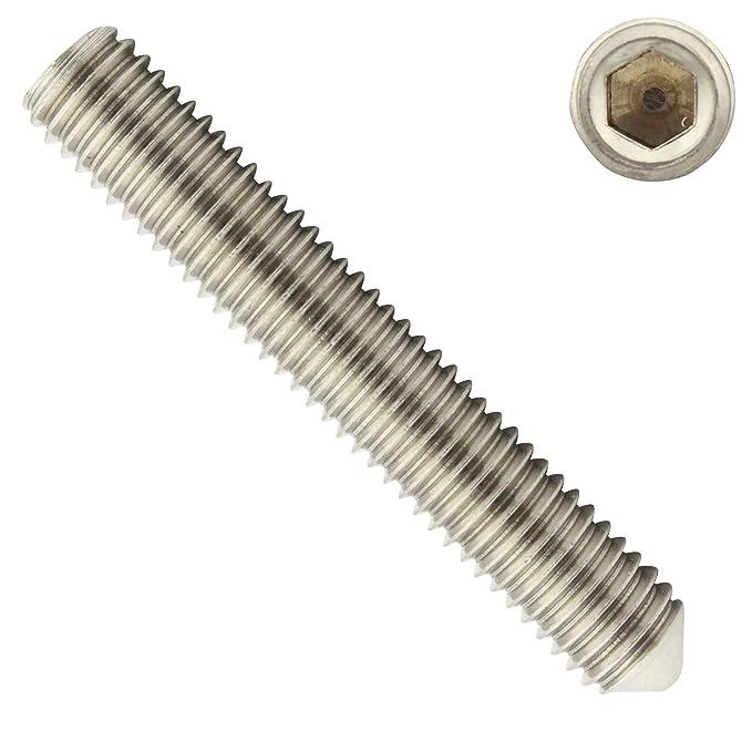 VPE: 10 St/ück ISK D2D Madenschrauben Gewindestifte Gr/ö/ße: M5 x 22 mm nach DIN 914 mit Innensechskant und Spitze aus Edelstahl A2 // V2A
