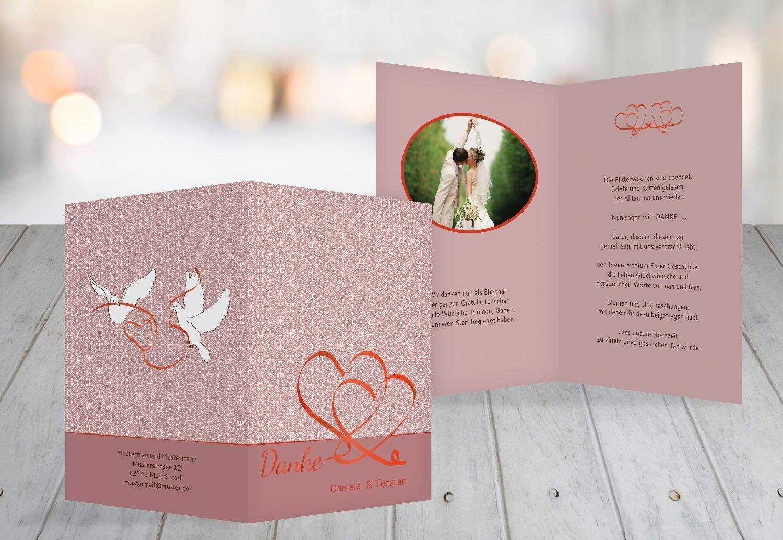 Kartenparadies Danksagung für Hochzeitsgeschenke Hochzeit Dankeskarte Turteltäubchen, hochwertige Danksagungskarte Hochzeitsglückwünsche inklusive Umschläge   20 Karten - (Format  105x148 mm) Farbe  DunkelgrauBraun B01NBX4IAS | Ne