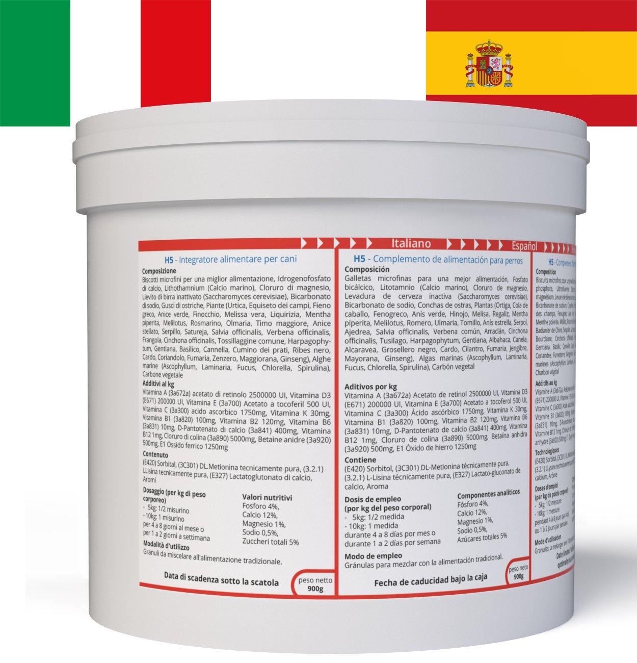ww7 H5 Fórmula Natural para Vigor, músculos & tranporte de Perros -900g: Amazon.es: Productos para mascotas