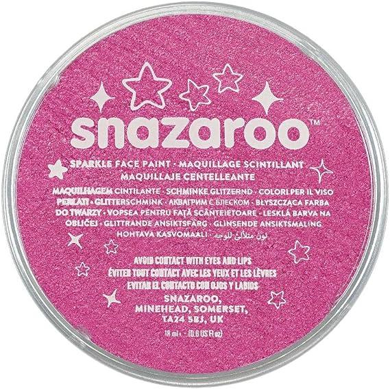 Snazaroo - Pintura facial y corporal, 18 ml, color rosa centelleante: Amazon.es: Belleza
