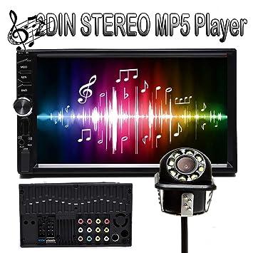 Universal 7in 2 Din Car Multimedia Radio MP5 Player Bluetooth HD Audio Head Unit