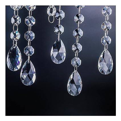 Amazon.com: En forma de lágrima Araña cristales partes, H ...