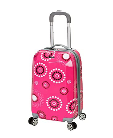 eb5b109d3 Amazon.com | Rockland Luggage 20 Inch Polycarbonate Carry On Luggage, Pink  Pearl, One Size | Carry-Ons