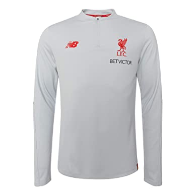 539c831a3 Amazon.com: Liverpool FC Grey Mens Soccer Elite Training Midlayer Shirt 18/19  LFC Official: Clothing