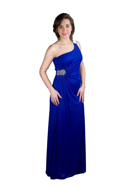 Hailey Logan Women's One-Shoulder Long Dress