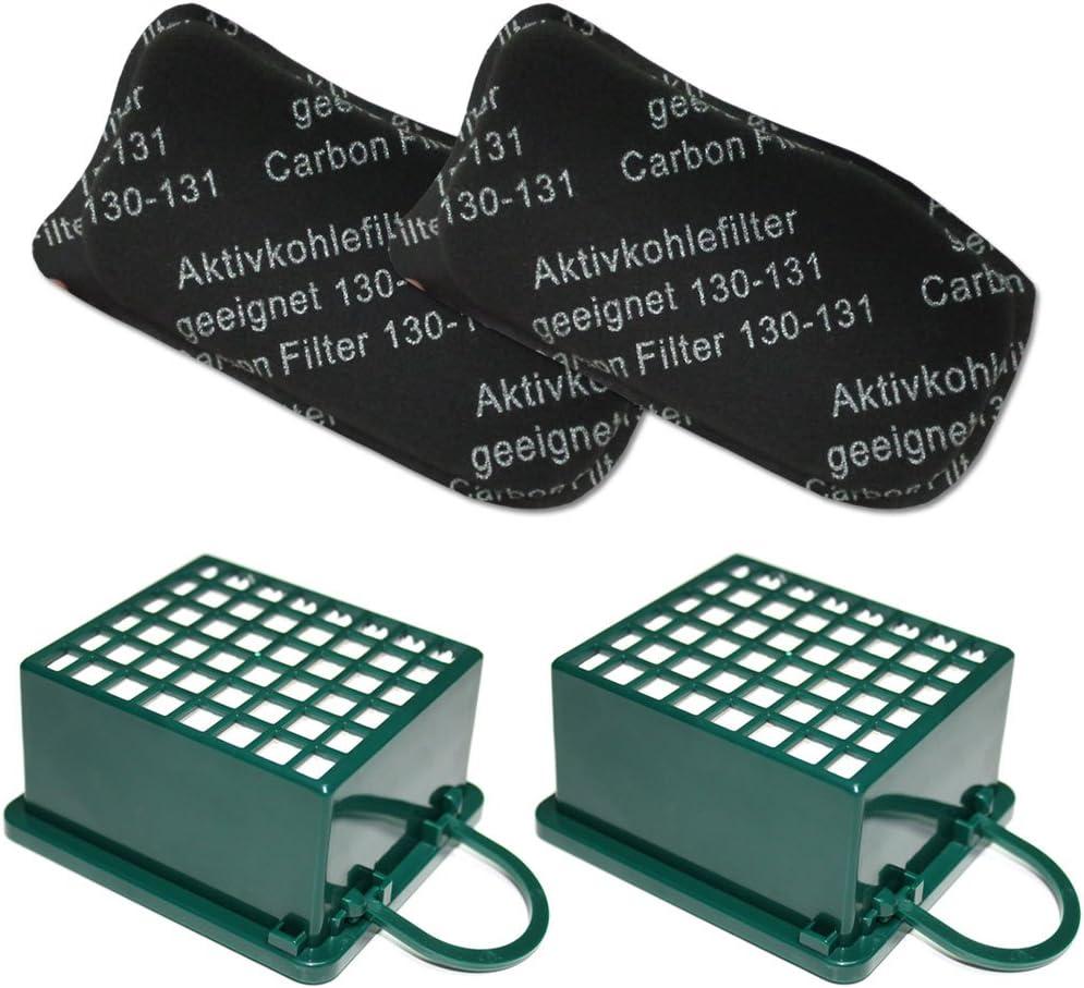 2 Filtri ODORI per aspirapolvere Vorwerk Folletto Kobold VK 130 VK130 VK131 131 SC KIT 2 Filtro HEPA // EPA